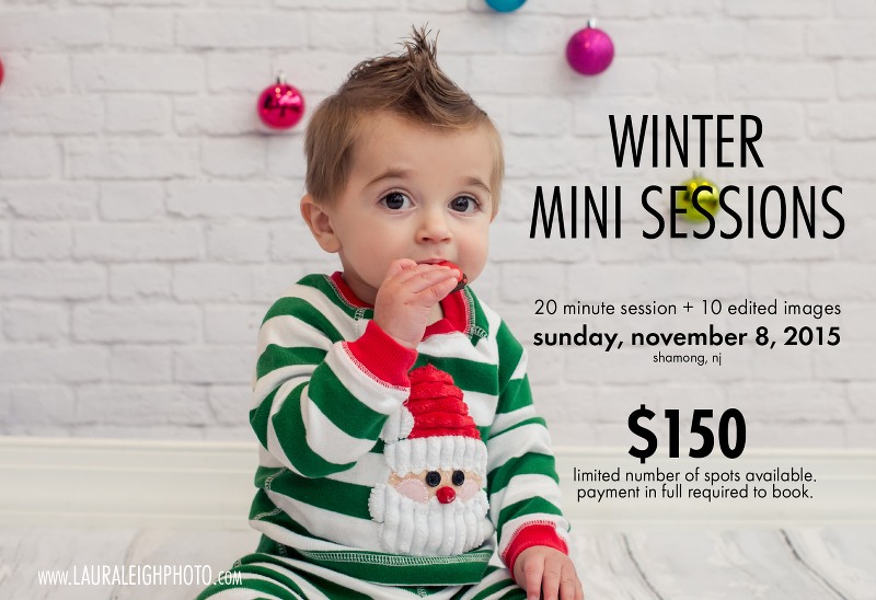 christmas mini session south jersey photographer 2015