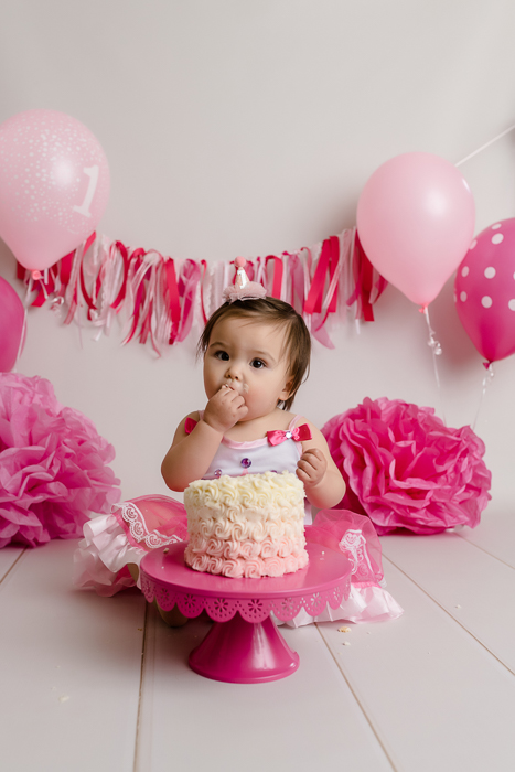 Swell Lena First Birthday Cake Smash Nj Laura Leigh Photo Funny Birthday Cards Online Inifofree Goldxyz